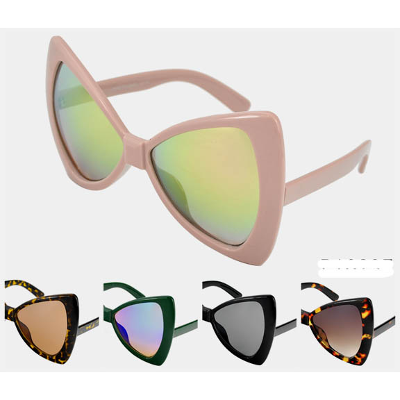 BOW TIE SHAPE SUNGLASSES ASSORTED COLORS & LENSES
